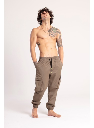 XHAN Haki Kargo Cep Jogger Pantolon 1Kxe5-44672-09 Haki